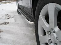 Пороги с площадкой 42,4мм для Hyundai Santa Fe (2006 -) HYUNSF-05