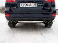 Защита задняя (центральная) 60мм для Hyundai Santa Fe (2006 -) HYUNSF-06