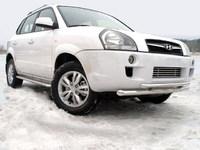 Защита передняя нижняя 60,3/42,4мм для Hyundai Tucson (2005 -) HYUNTUC-01