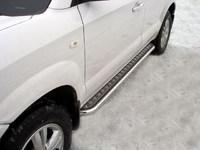 Пороги с площадкой 42,4мм для Hyundai Tucson (2005 -) HYUNTUC-02