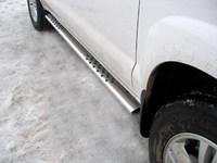 Пороги овальные с проступью 75x42мм для Hyundai Tucson (2005 -) HYUNTUC-04