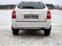Защита задняя (центральная) 60мм для Hyundai Tucson (2005 -) HYUNTUC-05