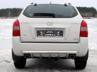 Защита задняя (центральная) 60,3/42,4мм для Hyundai Tucson (2005 -) HYUNTUC-07