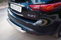 Защита заднего бампера d63/42 (Дуга) для Infiniti FX37 (2010 -) IF7Z-000709
