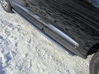 Пороги с площадкой 42,4 мм для Infiniti JX 35 (2013 -) INFJX3513-08