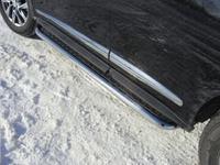 Пороги с площадкой 60,3 мм для Infiniti JX 35 (2013 -) INFJX3513-09