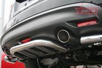 Защита заднего бампера d60 малая для Infiniti FX35/50 (2008 -) INFX.75.0756