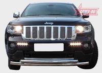 """Защита переднего бампера """"труба"""" d76/60 сверху для Jeep Grand Cherokee (2011 -) JEEP.48.1364"""