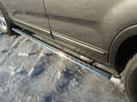 Пороги овальные с проступью 75х42 мм для Kia Sorento (2012 -) KIASOR12-07