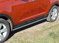 Пороги труба 60,3 мм для Kia Sportage (2010 -) KIASPORT10-02