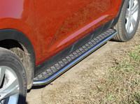 Пороги с площадкой 42,4 мм для Kia Sportage (2010 -) KIASPORT10-04
