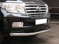 Защита переднего бампера d76 (секции) для  Toyota Land Cruiser 200 (2007 -) LCZ-000203