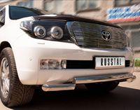 Защита переднего бампера d70 (ступень) для  Toyota Land Cruiser 200 (2007 -) LCZ-000205