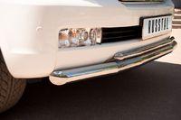 Защита переднего бампера d76/42 (секции) для  Toyota Land Cruiser 200 (2007 -) LCZ-000206