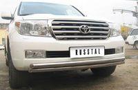 Защита переднего бампера d63/63 (дуга) для  Toyota Land Cruiser 200 (2007 -) LCZ-000207