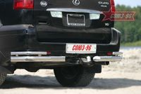 """Защита задняя """"уголки"""" d76 двойные для Lexus GX 470 (2003 -) LEXG.76.0077"""