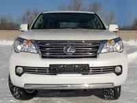 Защита передняя нижняя 75х42 мм для Lexus GX460 (2009 -) LEXGX460-02