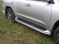 Защита порогов 42мм для Lexus LX 570 (2007 -) LEXLX570-02
