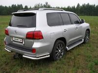 Защита задняя (уголки) 76,1/42,4мм для Lexus LX 570 (2007 -) LEXLX570-03