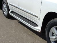 Защита порогов 42,4 мм для Lexus LX 570 (2012 -) LEXLX57012-02