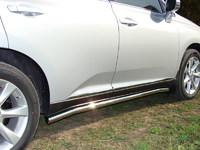 Пороги труба 60,3мм для Lexus RX350 (2009 -) LEXRX350-02