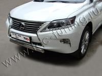 Защита передняя (овальная) 75х42 мм для Lexus RX350 (2012 -) LEXRX35012-05