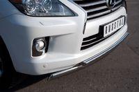 Защита переднего бампера d75х42/42 для Lexus LX570 (2012 -) LLXZ-000864