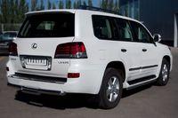 Защита заднего бампера d76 (ступень) для Lexus LX570 (2012 -) LLXZ-000868