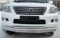 Защита переднего бампера d70/70/42 (секции) для Lexus L(X570 -) LLZ-000267