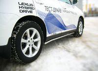 Пороги труба d42 для Lexus RX350(270,450) (2009 -) LRXT-000404