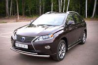 Защита переднего бампера d63/42 (дуга) для Lexus RX350(270,450) (2009 -) LRXZ-000403