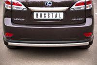 Защита заднего бампера d63 (дуга) для Lexus RX350(270,450) (2009 -) LRXZ-000409