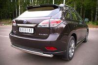 Защита заднего бампера d63/42 (дуга) для Lexus RX350(270,450) (2009 -) LRXZ-000410