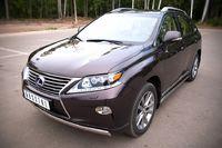 Защита переднего бампера  d75х42 овал для Lexus RX350(270,450) (2012 -) LRXZ-000412-2012
