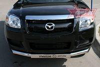 """Защита переднего бампера d76 """"труба"""" с накладкой для Mazda BT-50 (2007 -) MABT.48.0466"""