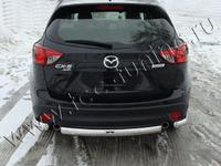 Защита задняя (центральная короткая) 75х42 мм для Mazda CX-5 (2012 -) MAZCX512-08