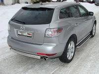 Пороги с площадкой 42,4мм для Mazda CX-7 (2007 -) MAZCX7-104