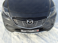 Решётка радиатора 16 мм для Mazda CX-9 (2013 -) MAZCX913-09