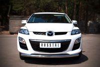Защита переднего бампера d63 (дуга) для Mazda CX-7 (2010 -) MC7Z-000641