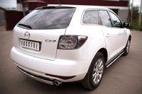 Защита заднего бампера d75х42  для Mazda CX-7 (2010 -) MC7Z-000649