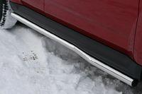"""Пороги """"труба"""" d60 изогнутые для Mitsubishi Outlander XL (2010 -) MIOU.80.1030"""