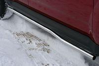 """Пороги """"труба"""" d42 изогнутые для Mitsubishi Outlander XL (2010 -) MIOU.80.1034"""