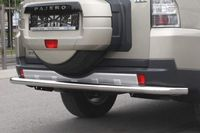 Защита заднего бампера d60 одинарная для Mitsubishi Pajero 4 (2006 -) MIPJ.75.0477