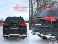 """Защита задняя """"волна малая"""" d60 для Mitsubishi Pajero Sport (2008 -) MIPS.75.0784"""