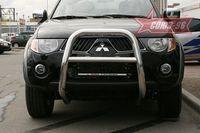 Решетка передняя мини d76 высокая для Mitsubishi L-200 (2006 -) MITL.55.0443