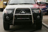 Решетка передняя мини d60 высокая для Mitsubishi L-200 (2006 -) MITL.55.0444