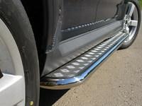 Пороги с площадкой 42,4мм для Mitsubishi Outlander XL (2006 -) MITOUTXL-04