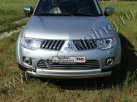 Решётка радиатора 16 мм для Mitsubishi Pajero Sport (2008 -) MITPASPOR10-04