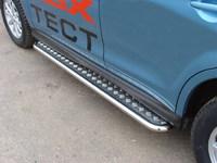 Пороги с площадкой 42,4 мм для Mitsubishi ASX (2010 -) MITSASX10-04