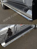 Пороги труба d42 (вариант 1) для Mitsubishi Pajero 4 (2012 -) MP4T-001039/1
